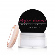 Perfect Summer Loose Powder Translucent Makeup Loose Face Powder #002-White,8g