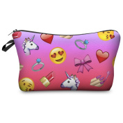 FRINGOO® Women's Make Up Bag Small Cosmetic Pouch Funny Cute Wash Bag Printed Toiletry Beauty Organiser Pencil Case Unicorn