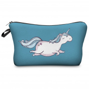 FRINGOO® Women's Make up Bag Cosmetics Pouch Wash Bag Small Clutch Pencil Case Stationery Organiser Unicorn Emoji Printed