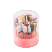 MAKARTT Stand Displayer Nail Drill Bit Holder Professional Nail Art Manicure Tools Nail Drills Box(Not Include Drill Bits)