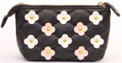 Studded black flower pouch from Japan