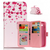 For Samsung Galaxy Grand Neo i9060 Duos Case [with Free Screen Protector], Qimmortal Anti Scratch Flip Soft Silicone Back Cover Case ,Stylish Printed Cute Colourful Pattern Magnetic Detachable Premium PU Leather Stand Function Folding Magnetic Credit C ..