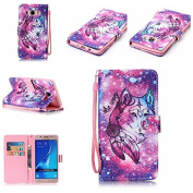 For Samsung Galaxy J5(2016) Case, For Samsung Galaxy J510 Case [with Free Screen Protector], Qimmortal Premium PU Leather Wallet Embedded Flip Magnetic Detachable Close Lock with [Lanyard Strap] and [Credit Card Holder Slots]Wallet Embedded Case Cover ..