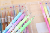 48 Coloured Gel Pens with Diamond Tip Non Bleed Ink Pen Set Highlighter Pen+Glitter Pen+Pastel Pen+Metallic Pen Set Smooth Anti Skip