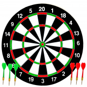 Dartboard Set Ideal for Kids by Laeto Toys Dart Board and Six Darts Included Dartboards Children Boards