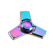 HENGSONG Colourful Hand Spinner Stress Relief Toy with Box Aluminium Alloy EDC Fidget Toy Stress Reducer Made Bearing Focus Anxiety Relief Toys for Killing Time