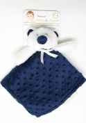Blankets and Beyond Navy and White Bear Dot Baby Security Blanket