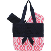 Vine Pattern Print Quilted 3pc Nappy Bag