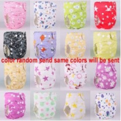 10pcs+10 INSERTS Adjustable Reusable Lot Baby Washable Cloth Nappy Nappies (girl printed oloth nappy