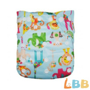 Baby Cloth Pocket Nappy Washable Reusable with Adjustable Snap, Zoo