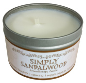 Our Own Candle Company Soy Wax Aromatherapy Scented Candle, Simply Sandalwood, 190ml