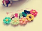 Lace Kenzola 5pc Toddler No-damage Plastic Mini Assorted Daisy Hair Barrettes Set