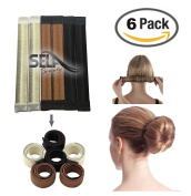 bun maker perfect bun diy women girls perfect hair bun making styling french twist donut bun hairstyle tool - 3 shades