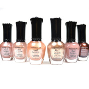Kleancolor Nail Polish Natural Nude Beige Colours Lot of 6! Lacquer Collection + Free Earring Gift