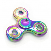 . AMA(TM) Rainbow Tri-Spinner Fidget Hand Spinner Eau De Cologne Autism Focus Decompression Gyro Toy