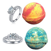 Amor Bath Bombs, 2 Ring, Large, 150ml