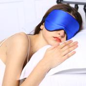 Adbama Silk Sleep Mask with Adjustable Strap - Royal Blue