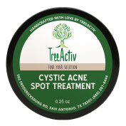 TreeActiv Cystic Acne Spot Treatment, Best Extra Strength Fast Acting Formula for Clearing Severe Acne from Face and Body, Gentle Enough for Sensitive Skin, Adults, Teens, Men, Women