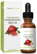 RejuveNaturals Cold Pressed Pomegranate Seed Oil ~ 100% Pure and Unrefined With No GMOs, Pesticides, or Hexane ~ Moisturising Benefits for Skin & Hair