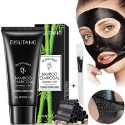 Blackhead Remover Mask, YouthWin Deep Cleansing Bamboo Charcoal Blackhead Mask, Peel Off Black Mask, Skin Care Black Mud Mask, Acne treatment, 60ml Blackhead Mask + 1 Mask Brush