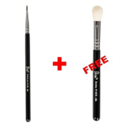 Bundle - Petal Beauty Small Eye Liner makeup Brush + FREE $9 Value Eye Blending Brush