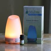Smiley Daisy Aromatherapy Diffuser Bundle with 5 ML 100% Eucalyptus Essentila Oil