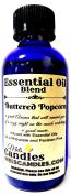 Buttered Popcorn 4oz / 118.29 ml Glass Bottle of Premium Grade A Quality Essential Oil Blend / Fragrance Oil, Skin Safe Oil