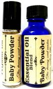 COMBO - BABY POWDER 1oz / 29.5 Ml Bottle of Skin Safe Fragrance / Perfume Oil and 10 Ml Bottle of Roll-On Perfume Oil