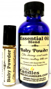 COMBO - BABY POWDER Combo 4oz / 118.29 Ml Bottle of Skin Safe Fragrance / Perfume Oil and 10 Ml Bottle of Roll-On Perfume Oil