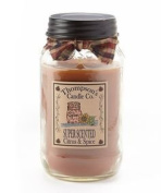 Thompson's Candles Mason Jar Candle-Citrus & Spice