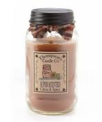 Thompson's Candles Mason Jar Candle-Citrus & Spice