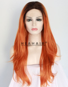 Heahair OrangeRed Synthetic Lace Front Wigs HS3033