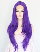 Heahair Purple Straight Synthetic Lace Front Wigs HS3021