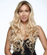 Uniwigs Machine Made Cap Body Wave Wig Heat Resistent Synthetic Fibre Ombre Black to Blonde Wig