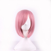 JK Pink Bob Wig Short Straight Synthetic Wig Heat Resistant Fibre with a Free wig cap