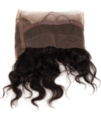 abHair 25cm Body Wave 6A Brazilian 360 degree Natural Hairline Lace Band Natural Black Colour Frontal-#1B