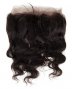 abHair 30cm Body Wave 360 Lace Band Frontal Brazilian Hair Natual Black Colour -#1B