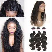 Royale Hair Human Hair Body Wave 3 Bundles Unprocessed Virgin Brazilian Hair Remy Human Hair Extension Natural Colour 100g Body Wave Hair Weave