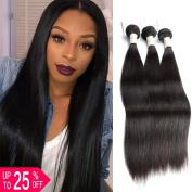 BeautyGrace Brazilian Virgin Hair Straight Soft and Bouncy Unprocessed Straight Human Hair Weave Extension Brazilian Straight Hair 3 Bundles