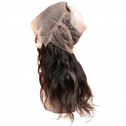 HotQueen Peruvian Virgin Human Hair 360 Lace Frontal Closure Wavy Full Lace Closure Black Natural Colour