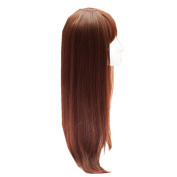 DAYISS Lady Clip In Hair Extensions Long Straight One Piece With Bangs for Women Hairpiece