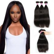 Mink Hair 7A Peruvian Straight Hair 3 Bundles (8 8 8) 100% Unprocessed Silky Human Hair Extensions 100g/bundle Natural Colour