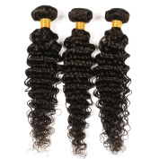 BeautyGirl Hair Brazilian Deep Wave Virgin Hair 3Bundles Lot Mix Length Unprocessed Brazilian Hair Extensions