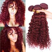 Black Rose Hair 8A Grade Brazilian Curly Wave Virgin Hair 4 Bundles Remy Human Hair extension Sexy Curly Weaves Colour 33 .  95-100g/piece,36cm x 4)