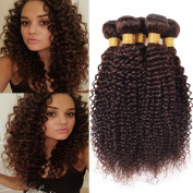 Black Rose Hair 100% Unprocessed Brazilian Curly Virgin Hair 4 Bundles Colour 2# Remy Brazilian Sexy Curly Weave Human Hair Extensions