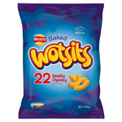 Walkers Wotsits Really Cheesy Snacks, 16.5 g - Pack of 22