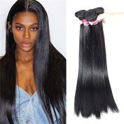BLY Hair 4 Bundles(12 14 16 46cm )100% Peruvian Straight Virgin Human Hair Weave Hair Extensions 6A Grade Quality Natural Black Colour Full Head