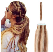 Yotty 41cm Tape in Skin Weft Remy Human Hair Extensions Straight 20Pcs 40Pcs