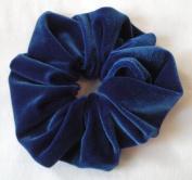Royal Blue Velvet Scrunchies-Large