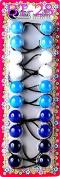 Tara Girls Twinbead Bubble Ball Ponytail Elastics 10 Pieces Selection